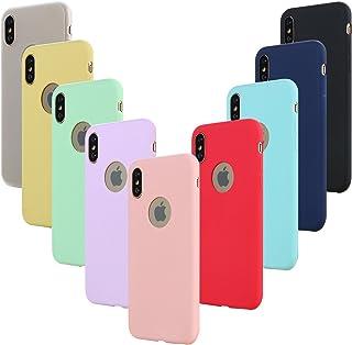 Leathlux 9X Funda Apple iPhone X, Carcasa iPhone XS Silicona TPU Gel Protector Flexible Cover para Apple iPhone XS/X 5.8
