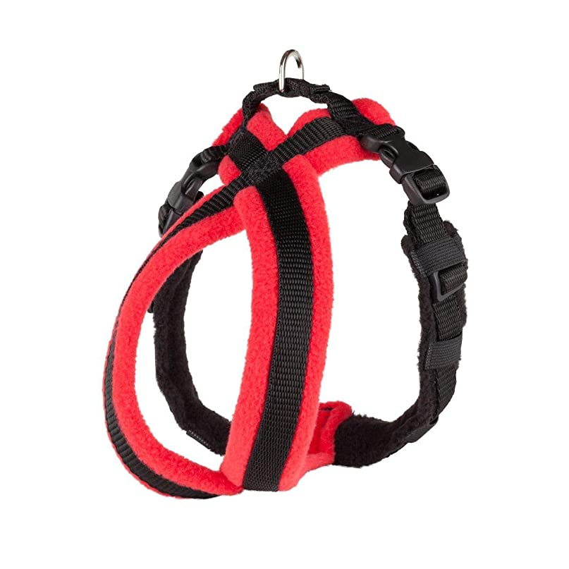 Fleece Lined Harness フリースラインドハーネス 犬用 英国製 2号 (レッド)