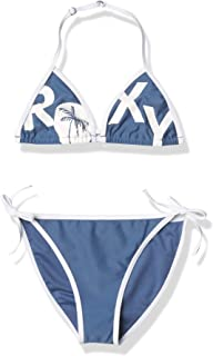 Roxy Girls' Perfect Surf Time Set Tiki Tri Two Piece Swimsuit