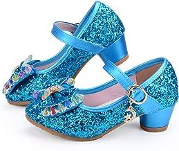 أحذية أميرات الأطفال صنادل رقص ذات كعب عالٍ للفتيات الصغيرات
