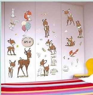 Sika Deer Cabinet Closet Refrigerator Door Bedroom Living Room Background Decoration