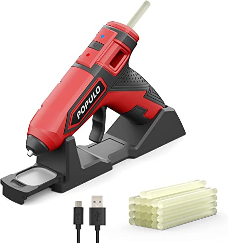 discount Wireless Mini Hot Glue Gun Hot Glue Gun Kit, 3.6V Cordless Glue Gun Rechargeable online with outlet sale Stand, For Home Quick Repairs, School DIY Arts and Crafts Projects Brand by POPULO outlet online sale