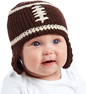 Chunky Football Knit Hat by Mud Pie