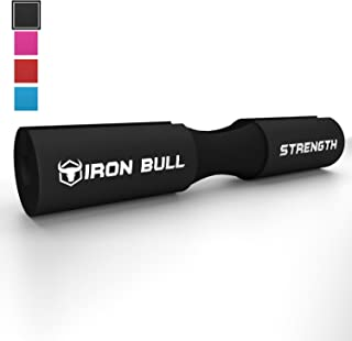 Iron Bull Strength Advanced Squat Pad - Barbell Pad for Squats, Lunges & Hip Thrusts - Neck & Shoulder Protective Pad Support