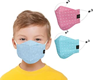CENWELL 3 Pcs Kids Mask Reusable Washable Breathable Face Mask with Adjustable Earloops for Boys Girls Children Gift, Cute...