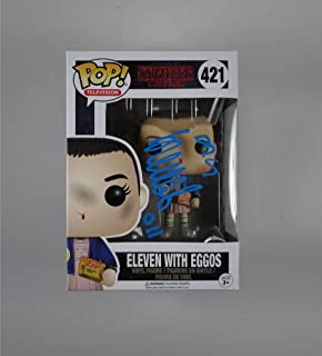 Millie Bobby Brown Stranger Things Eleven with Eggos 011#421 Autographed Signed Funko Pop Certified Authentic COA…