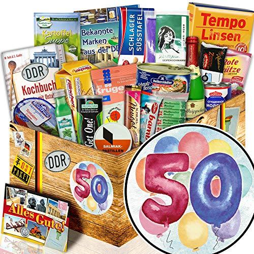 50. Geburtstag + Geschenkidee 50ter + Ost Spezialitäten Geschenk