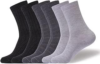 PlusAg 6P Pack Women's Aloe Infused Blister Free Modal Dress Socks