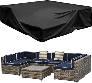 Patio Furniture Sectional Set Covers Large Water Resistant Outdoor Furniture Set Covers Loveseat Covers Waterproof Heavy D...