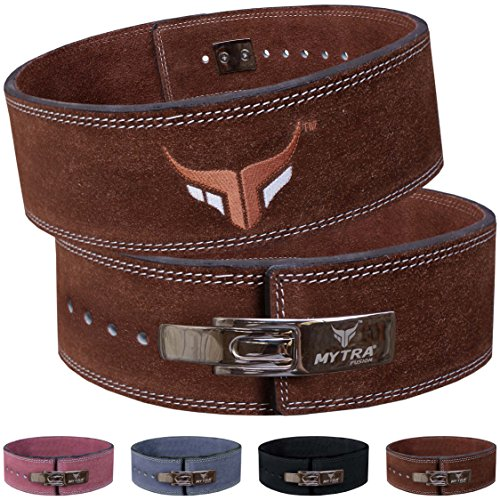 Mytra Fusion leather combo giant weightlifting belt is designed specifically for the fitness lovers. Made from combination of high quality prime durable suede and full grain leather this best provides the best comfort and support to the spinal. The h...