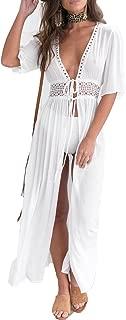 Women's Chiffon Kimono Cardigan Lace Long Maxi Beach Dress Bikini Covers Up