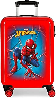 Marvel Spiderman Black Valise Trolley Cabine Rouge 37x55x20 cms Rigide ABS Serrure à combinaison 34L 2,6Kgs 4 roues double...