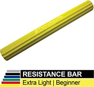 TheraBand FlexBar, Tennis Elbow Therapy Bar, Relieve Tendonitis Pain & Improve Grip Strength, Resistance Bar for Golfers Elbow & Tendinitis, Yellow, Extra Light, Beginner