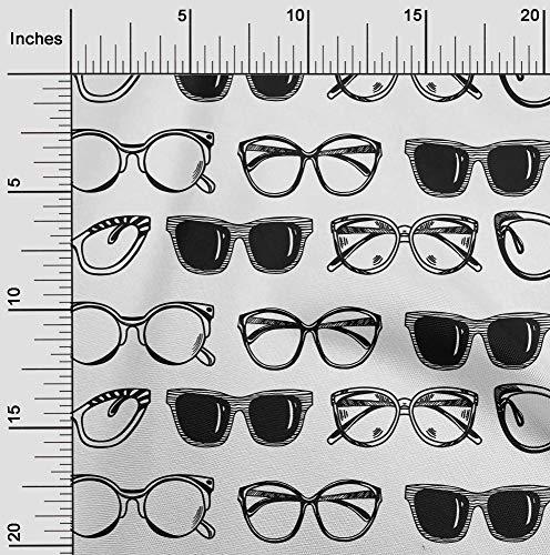 oneOone Jersey De Algodón Tela gafas de protección Moda Cosiendo Tela De La Impresión De Material Por Metros 58 Pulgadas De Ancho
