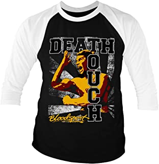 Bloodsport Officially Licensed Death Touch Baseball 3/4 Sleeve T-Shirt (Black-White)