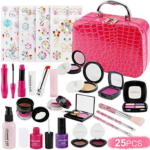 FancyWhoop 25 Pezzi Trucchi Bambina Set per Ragazze di Cosmetici per Bambini Lavabile Makeup Set di Cosmetici per Bambini Trucco Ragazza Giocattolo co