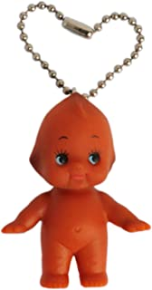 Cute Kawaii Brown Kewpie Baby Doll Ball Key Chain Pendant Necklace Charm Cupie Cupid Rubber Vinyl Figure Made Japan Toy (Doll Key Chain)