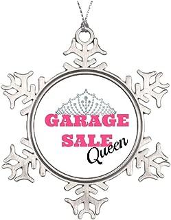 Promini Large Christmas Tree Snowflake Ornaments Garage Sale Queen Line Wedding Snowflake Ornaments Rummage Sale, 3 Inch