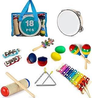 MAXZONE Kids Musical Instruments, 31Pcs 19 Types Wooden Instruments Tambourine Xylophone Toys for Kids Children, Preschool...