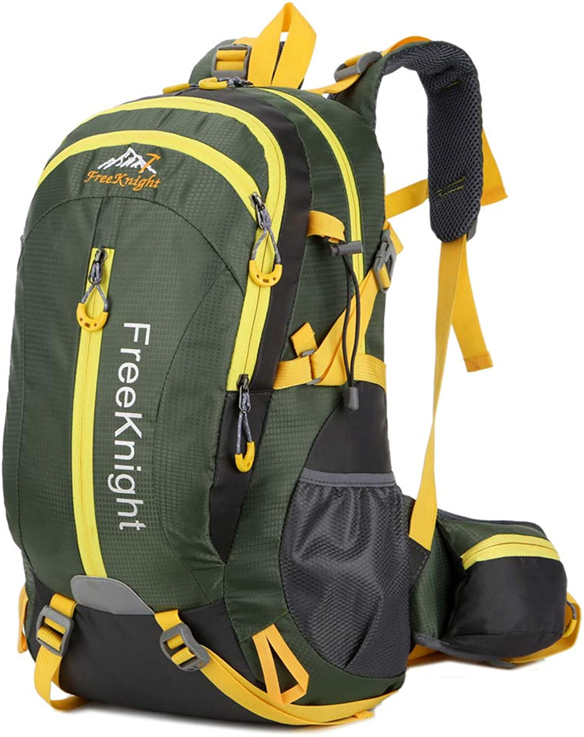 40L Waterproof Hiking Backpack, Large Outdoor Sport Trekking Rucksack Mountaineering Daypack for Travelling Picnic Camping Climbing,ArmyGreen