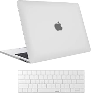 """ProCase MacBook Pro 15 Case 2018 2017 2016 Release A1990/A1707, Hard Case Shell Cover and Keyboard Cover for Apple MacBook Pro 15"""" (2018/2017/2016) with Touch Bar and Touch ID -Frost Clear"""