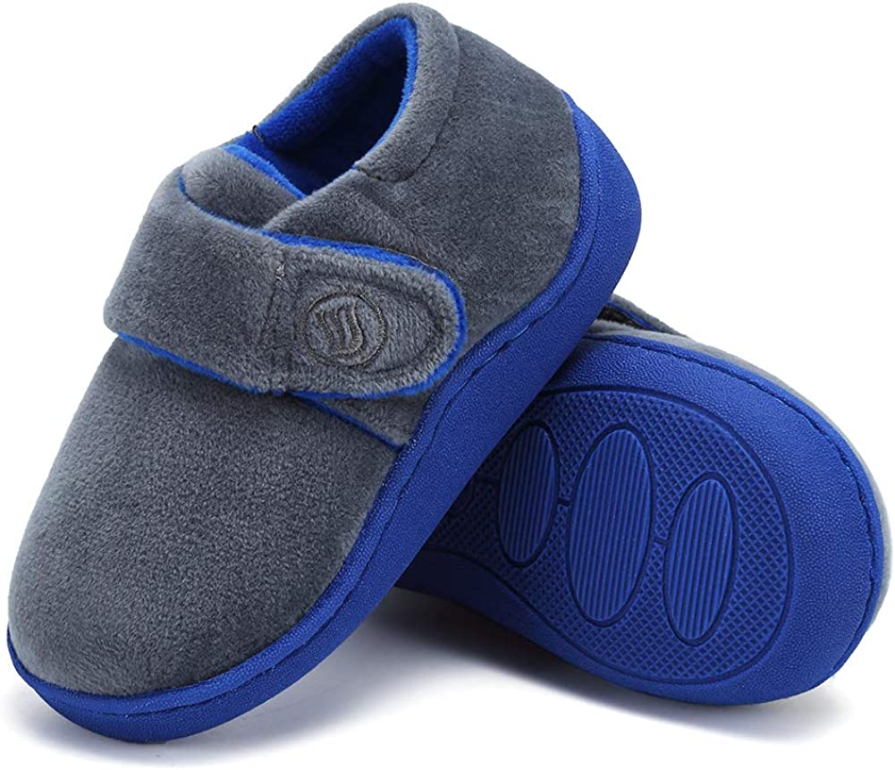 Toddler Slippers Boys Girls Socks Lightweight Comfort Slip on Kids Indoor Warm Home Shoes