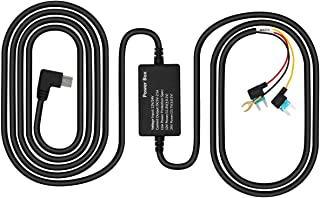 Dash Cam Hardwire Kit for PR996, Mini USB Hard Wire Kit with Low Voltage Protection for Driving Cams Parking Mode Time-Lapse Recording