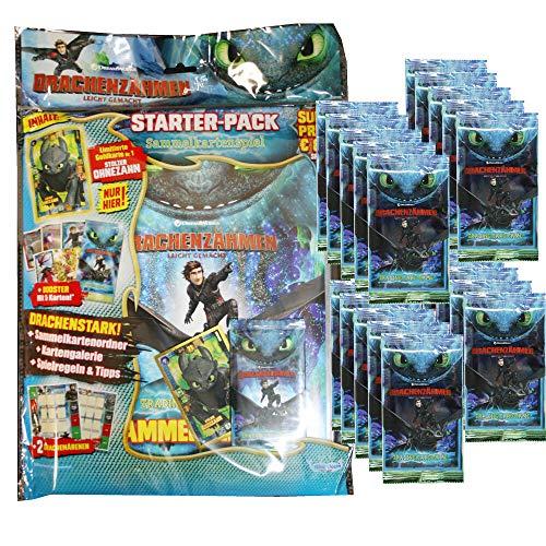 Dragons Trading Cards Serie 3 (2019) - Die geheime Welt - 1 Starter + 20 Booster