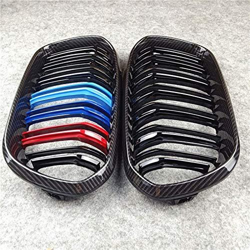HanT Zubehörfür AutogitterCarbonFrontgrill Dual Lines Grills , Für BMW F20 F22 E46 E90 E92 F30 F34 F32 G30 E39 E60 F10 E84 F48 X3 X4 X5 X6 F06 F12 F01 F07