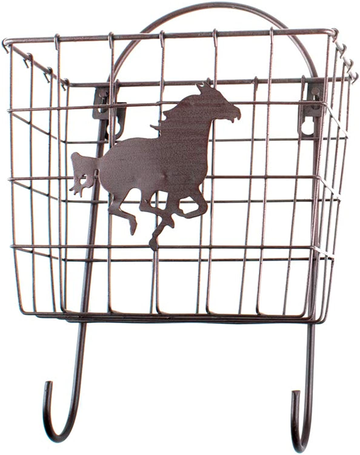 Metal Horse Basket with Hooks