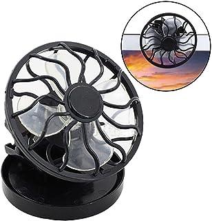 Ventilador Portatil,VENMO Clip en el ventilador de la célula solar energía solar panel de refrigeración verano Cooler,negro