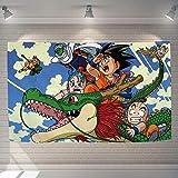 WSQQT Tapices,Anime Dragon Ball Z Goku Tapiz De Dibujos Animados Colcha Suave Toalla De Playa Toalla De Viaje Caliente 250 Cm * 150 Cm
