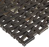 Durable Durite Recycled Tire-Link Outdoor Entrance Mat, Herringbone Weave, 17' x 25', Black