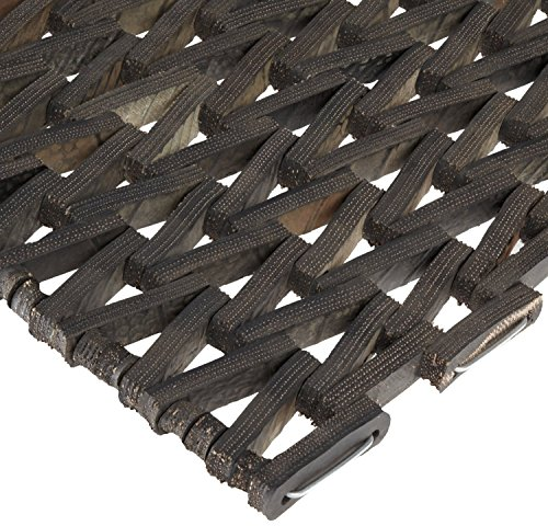 Durable Corporation-108H2436 Durite Recycled Tire-Link Outdoor Entrance Mat, Herringbone Weave, 24' x 36', Black
