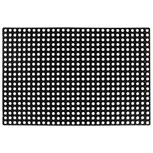 Tidyard Gummimatte 16 mm 80 x 120 cm | Ringgummimatte Gummi Ringmatte für Eingangsbereich Terrasse oder Werkstatt