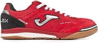Top Flex Nubuck Leather Soccer Shoe Futsal Shoe (11, Red)