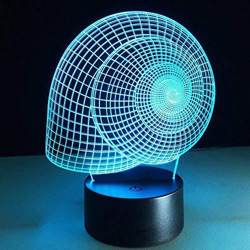 Luz nocturna 3D Luz de Noche 3D illusion light regalo de cumpleaños para jóvenes, niñas Con interfaz USB, cambio de color colorido