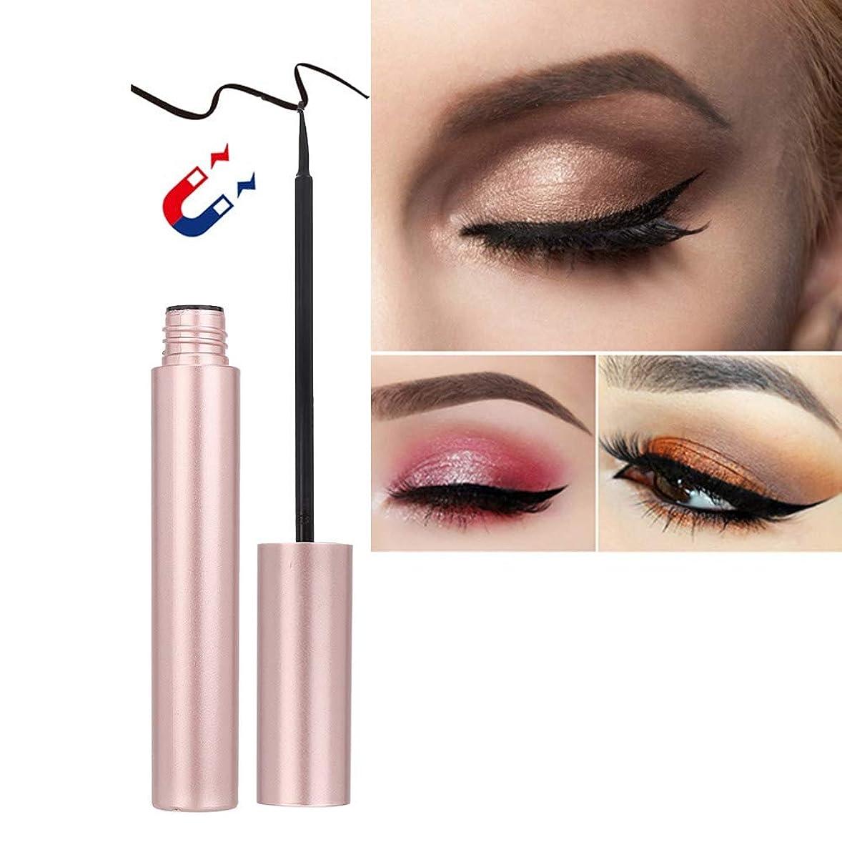 柔らかさかわす大統領リキッドアイライナー、ラウンドチューブ磁気つけまつげまつ毛ピンセットキット女性用化粧品ツール(003#)