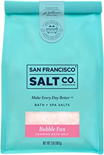 Bubble Fun Foaming Bath Salts 2 lb. Luxury Gift Bag by San Francisco Salt Company