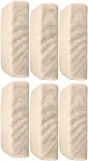 6Pcs Cream_Size S Polyester Spandex Elastic Sofa Futon Seat Cushion Cover Couch Slip Covers Protector Replacement Home Living Room