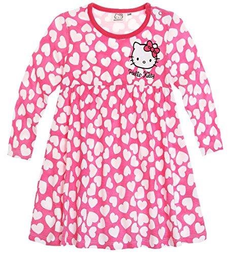 Robe manches longues bébé fille Hello kitty Rose/blanc de 3 à 24mois (18mois)
