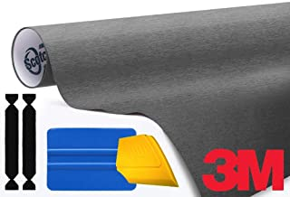 3M 1080 Brushed Steel Air-Release Vinyl Wrap Roll Including Toolkit (1ft x 5ft)