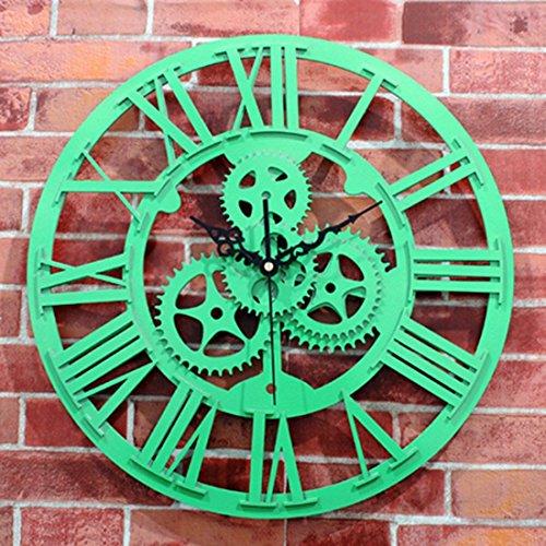 WERLM persoonlijk design Home Decor kunst klok tandwielen wandklokken tandwielen horloges vintage mode ideeën woonkamer klokken ideaal voor thuis keuken kantoor scholen ideaal voor elke ruimte, G
