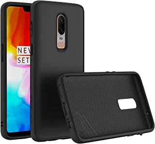 RhinoShield Case for OnePlus 6 [SolidSuit] | Shock Absorbent Slim Design Protective Cover [3.5M/11ft Drop Protection] - Classic Black