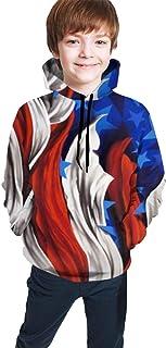 US Flag Art Kids/Teen Girls' Boys' Hoodie,3D Print Pullover Sweatshirts