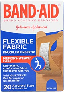 BAND-AID Flexible Fabric Bandages Knuckle & Fingertip 20 Each (Pack Of 2)