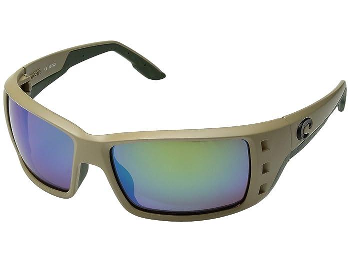 Costa  Permit (Sand/Green Mirror 580G) Fashion Sunglasses