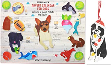 Trader Joes Dog or Cat Treat Advent Calendar with Cute Christmas Accesorry