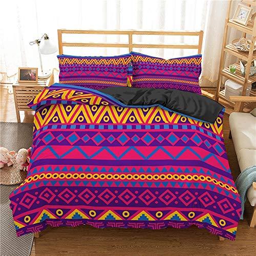 Juegos de funda nórdica tamaño king, juego de ropa de cama Funda nórdica Funda de almohada Mandala Ropa de cama Colcha Funda nórdica de textiles para el hogar y 1/2 funda de almohada Juego de cama,