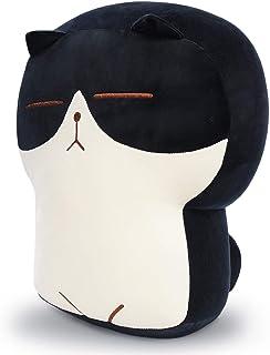DENTRUN Stuffed Cat Plush Pillow, Big Hugging Chubby Cat Stuffed Animals, Fluffy Soft Toast Bread Sofa Cushion Stuffed Dol...